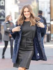 ES Leatherlook Skirt Black
