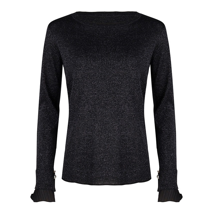 Sweater  Lurex Plissé Cuff