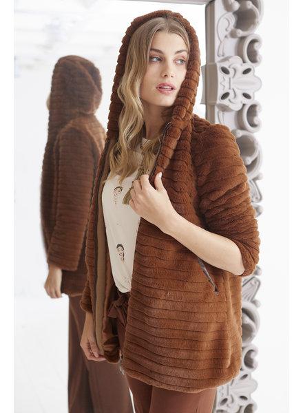 AA Fluffy Coat Camel S