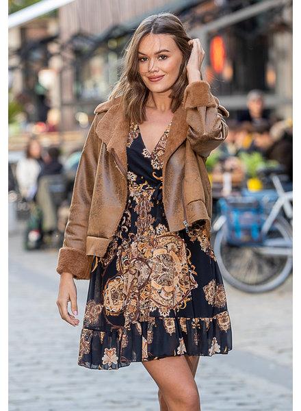 AA Emma Short Coat Camel Faux Fur