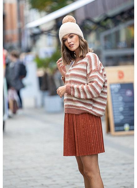 JM Crush Sweater Gold/Ecru/Blush