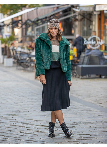 RC Elin Faux Fur Jacket Emerald Green