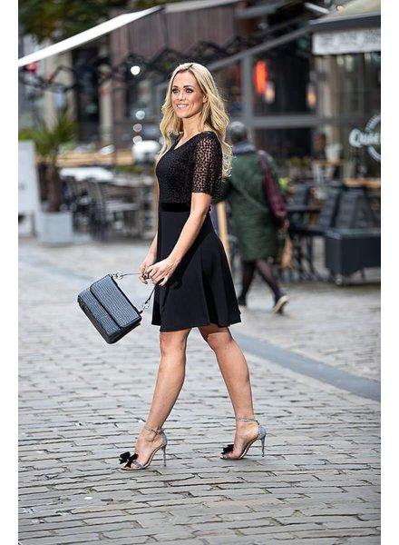 AA Doris New Dress Black Rose Detail Long Sleeve