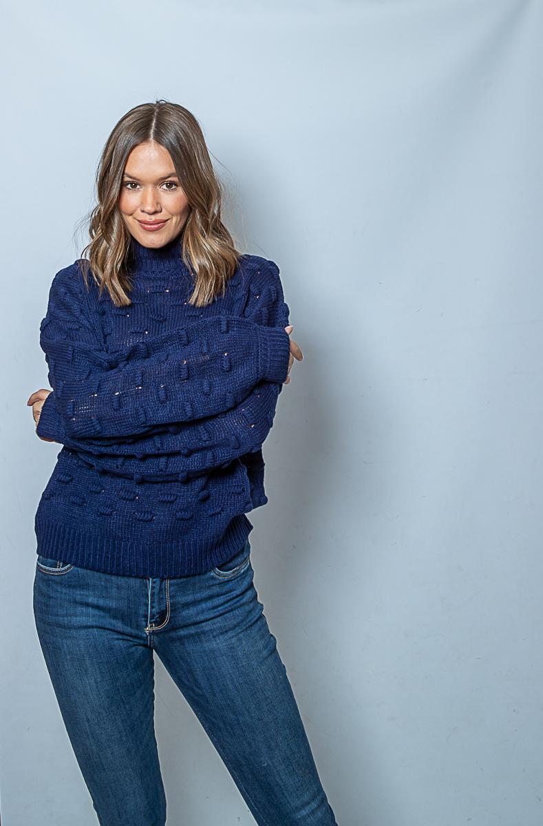 RC Liza Jacquard Knit Navy