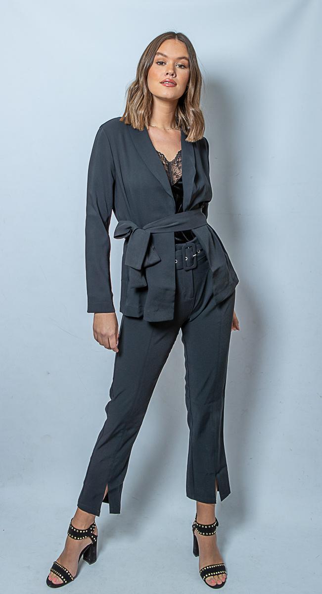 RC Nina Belt Pant Black