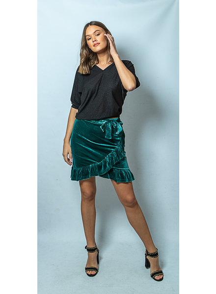 RC Vera Velvet Skirt Emerald Green