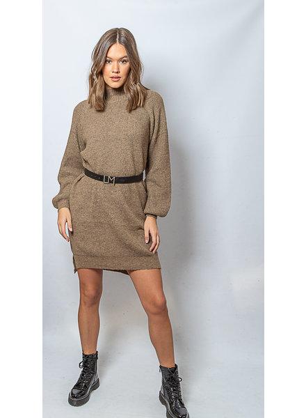 LO I Will Wait Sweater Dress Brown