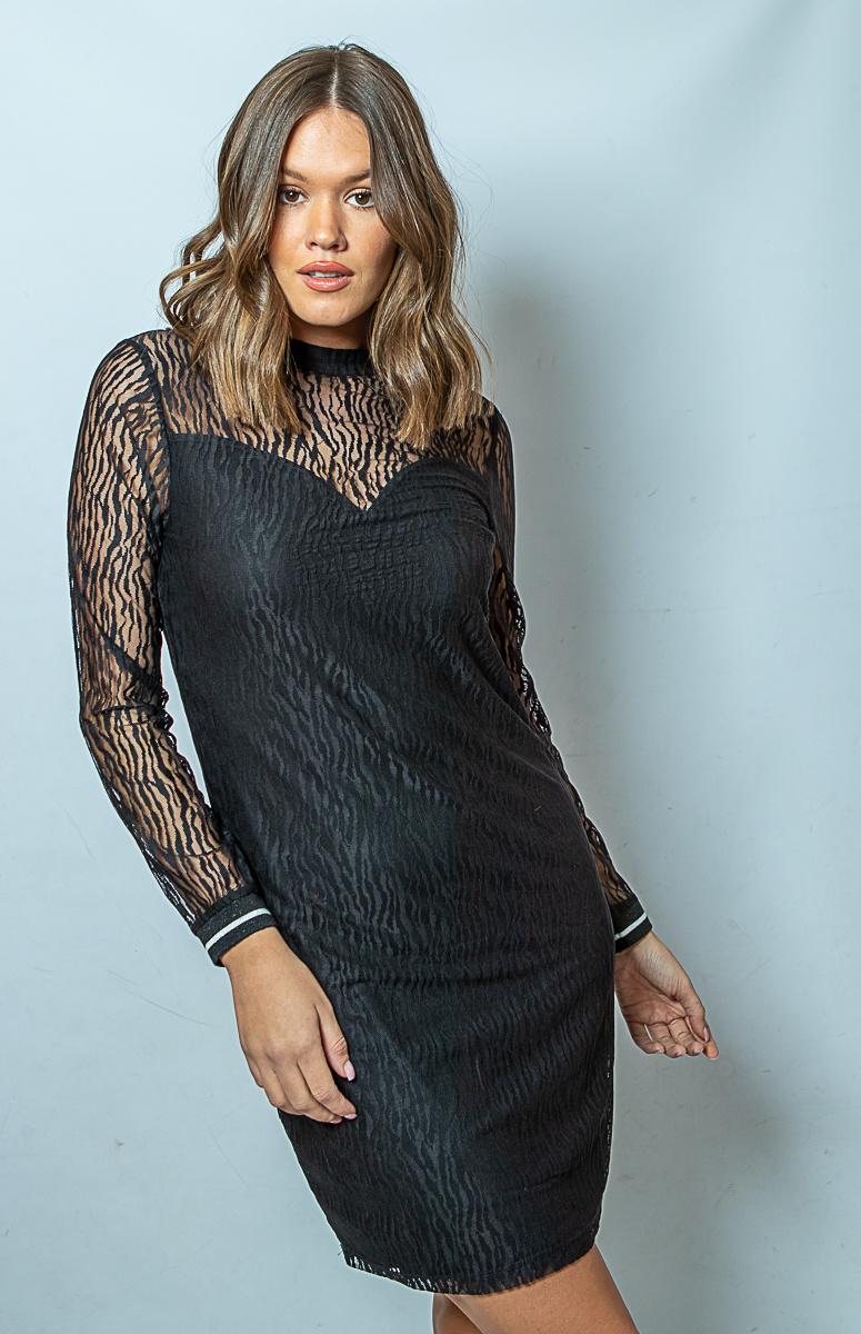 FB Long Sleeve Zebra Dress