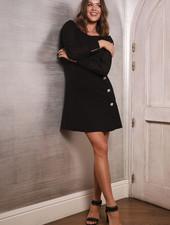 AA Black Dress Buttons With Swarovski
