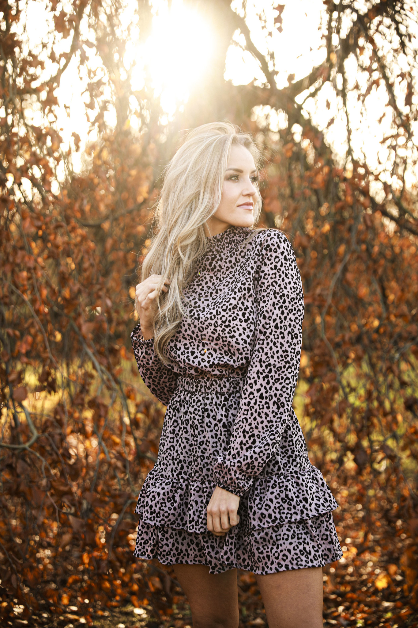 LO Piece Of Your Heart Leopard Dress