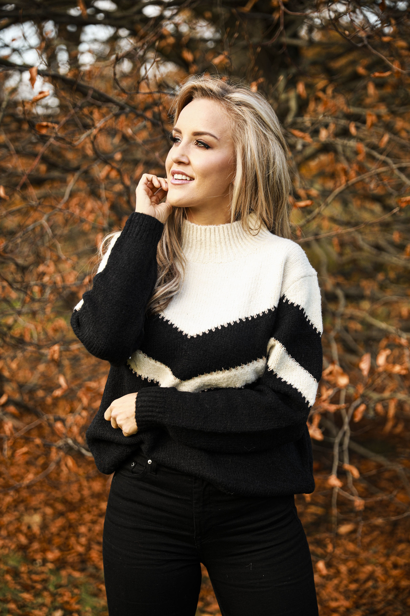 AT Elma Black & Beige Sweater