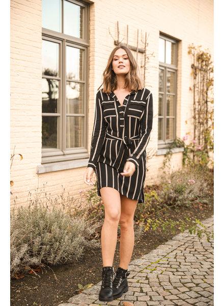 ES Striped Chemisier Dress