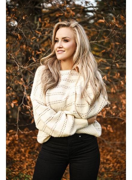 TS Sweater Beige & Gold
