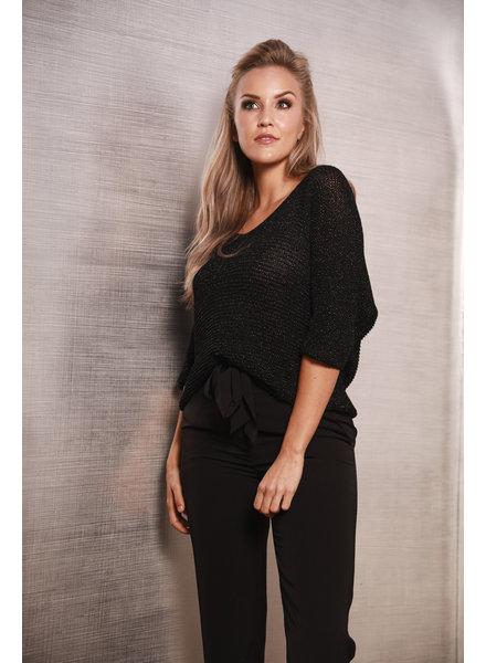 TS Pauline Sweater V-Neck Black