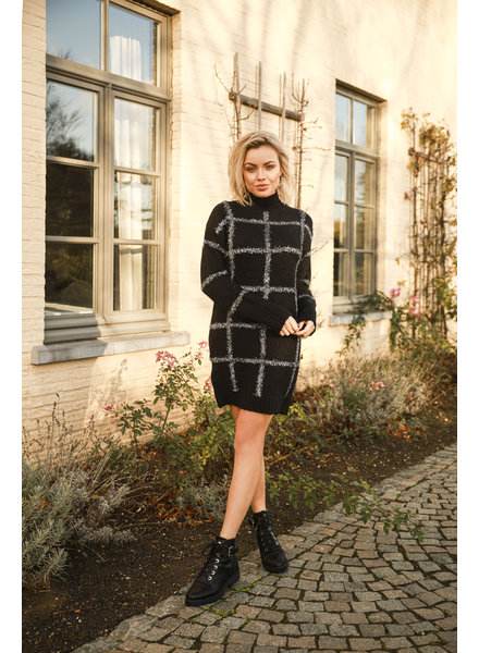 AT Sweater Dress Black Silver