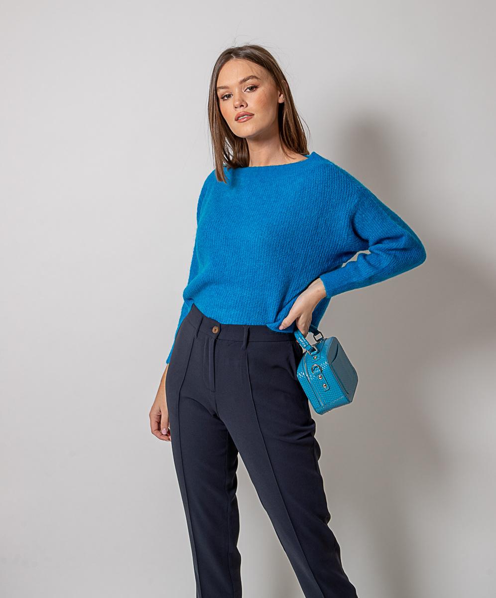 GL Nora Sweater Round Neck Blue