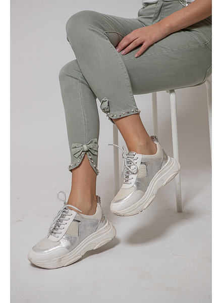 GL Kakhi Trousers Bow & Stones