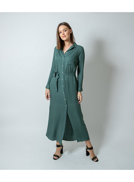WS Abby Dark Green Chemisier Dress
