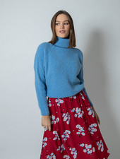 Claire Pull Roll Neck Blue