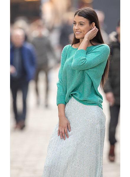 TS GL Pauline Sweater Bow Lurex Green