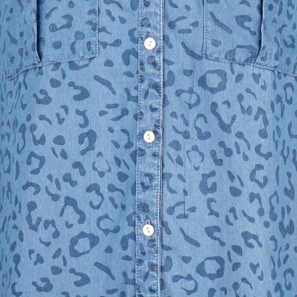 ES Dress Ruffle Tencel Leopard