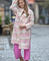 TS Checkered Jacket Pink