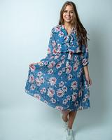 TS Cute Dress Flowers Blue