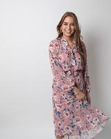 TS Cute Dress Flowers Pink