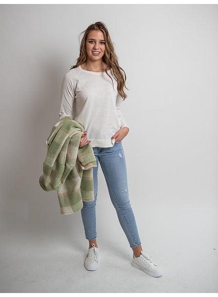 ES Sweater Linen Raglan Off-White