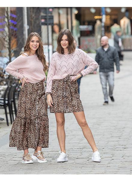 PE Sari Skirt Leopard
