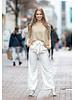 PE Joyce Pantalon Ecru Stripes