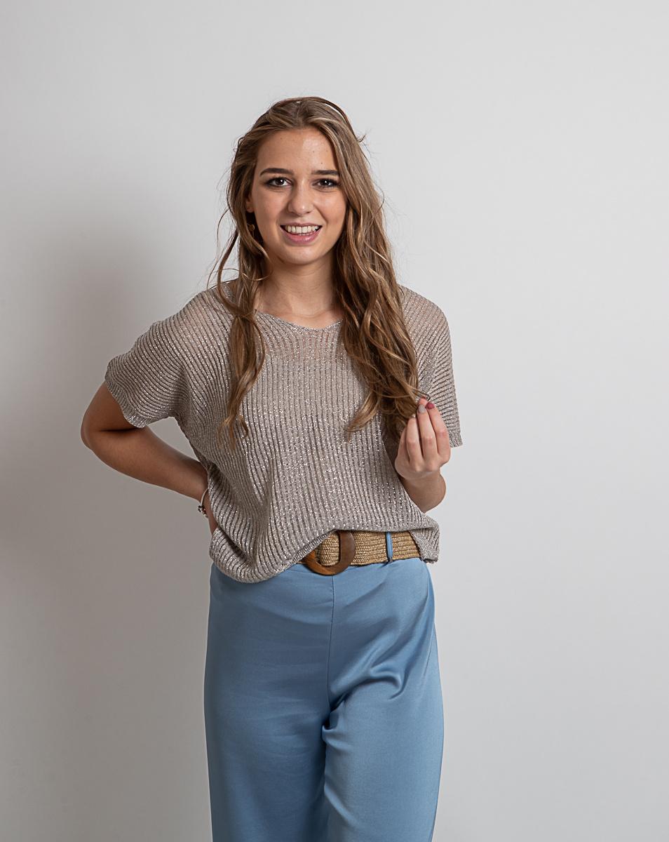AA Milou Trousers Satin Soft Blue