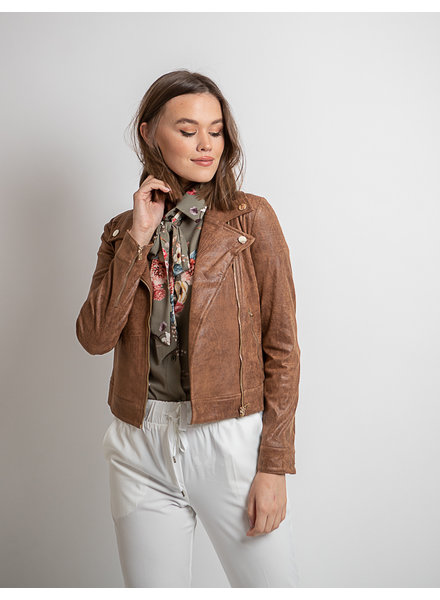 AA Perla Leatherlook Jacket Camel