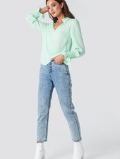 RC Ana Smock Blouse Mint Green