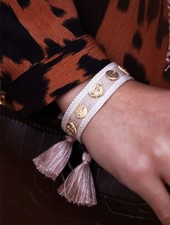 MJ Armband Met Eigen Bedels Beige