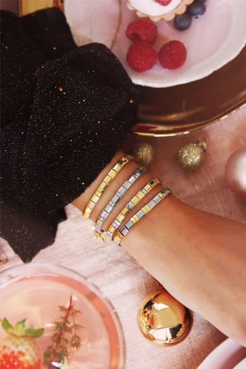 MJ Armband Platte Kralen