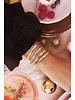 MJ Armband Platte Kralen Bi-Color Zilver
