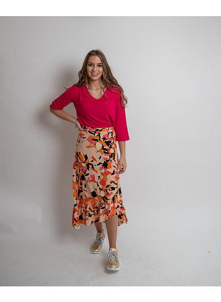 DH Paris Flower Print Skirt