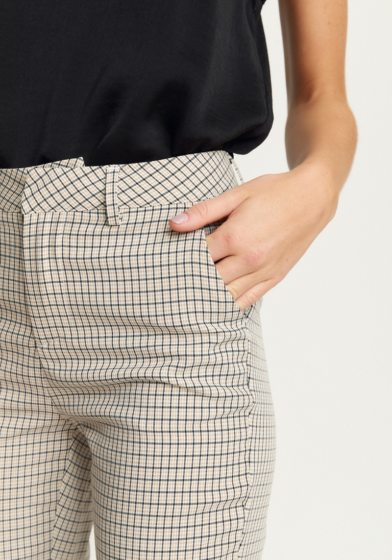 Maja Check Straight Pant