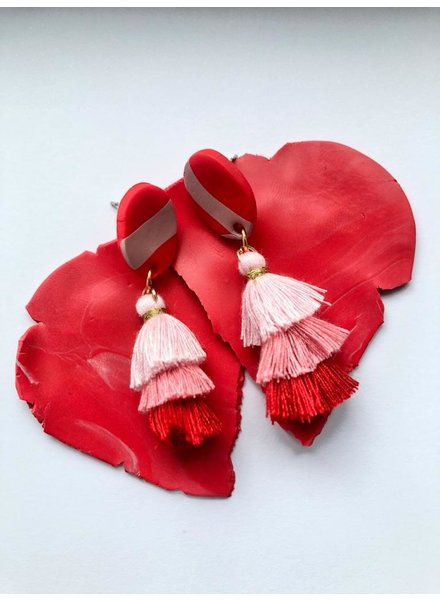 OT Pink & Red Earrings