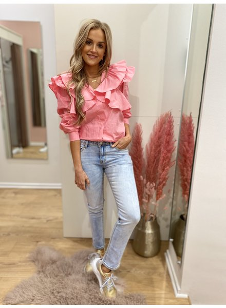 LO Come This Far Blouse Pink