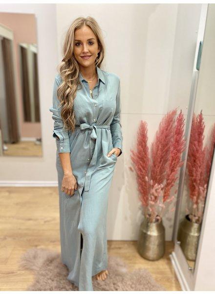 WS Abby Blue Green Chemisier Dress