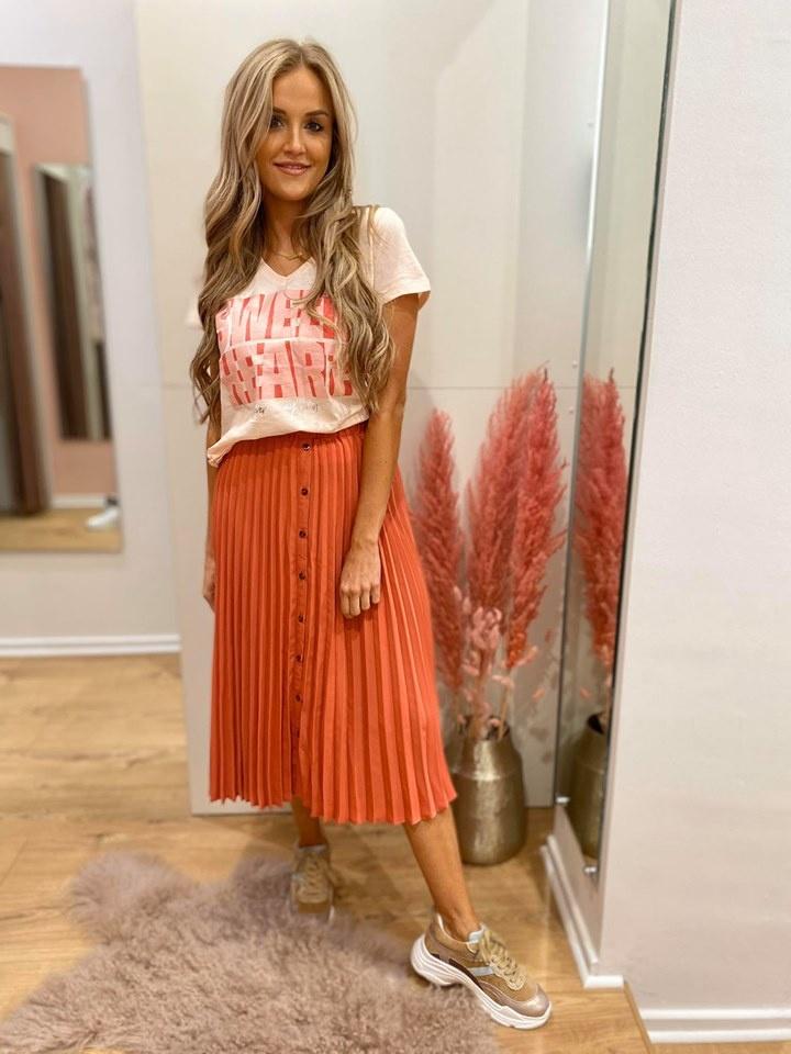 BR Lize Skirt Coral Plissé
