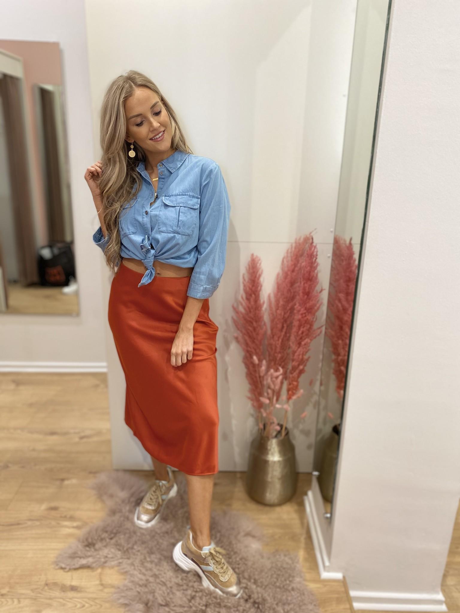 AL Arleen Skirt Rusty Orange