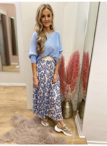 TS True Romance Skirt Flowers Blue