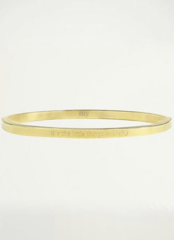 MJ It's the little things in life bangle