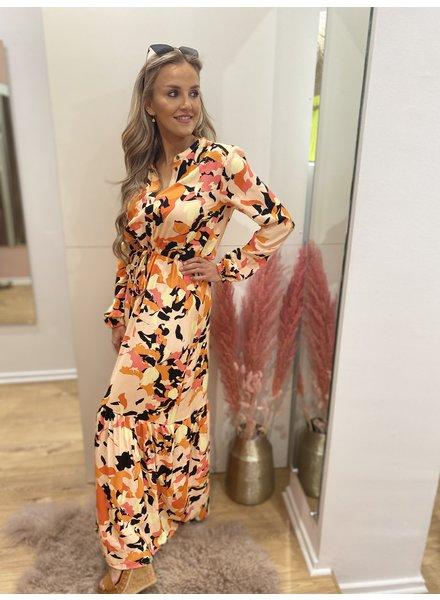 DH Paris Flower Print Maxi Dress