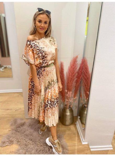 AA Helou Satin Skirt Leopard