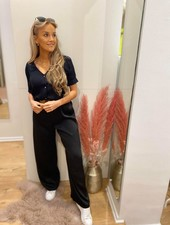 AA Milou Trousers Satin Black