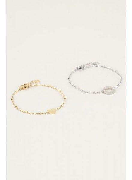 MJ MJ Mother-Daughter Bracelet Silver/Gold